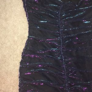 H&M Dresses - Strapless metallic homecoming dress